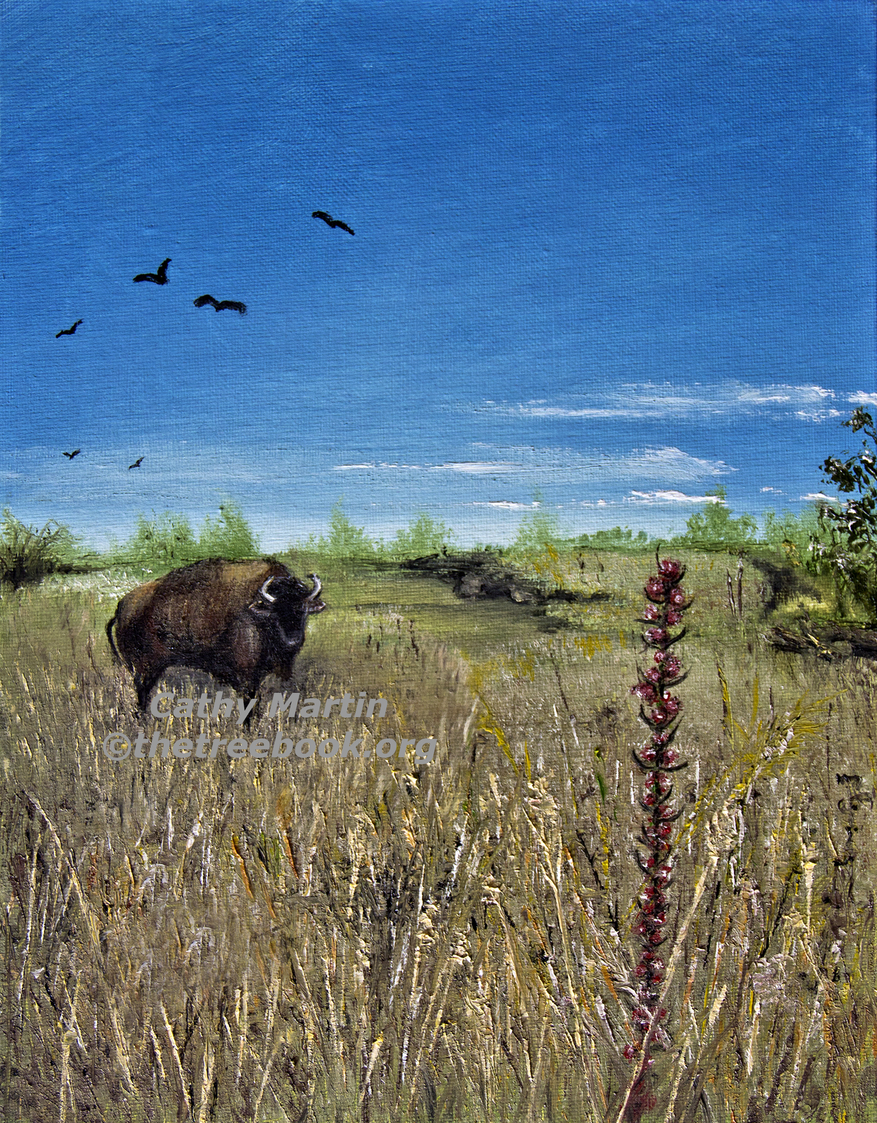 Buffalo by artist Cathy Martin