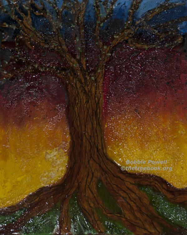 Bobbie Powell, Magic Tree, digital print, 14 x 11in. $75
