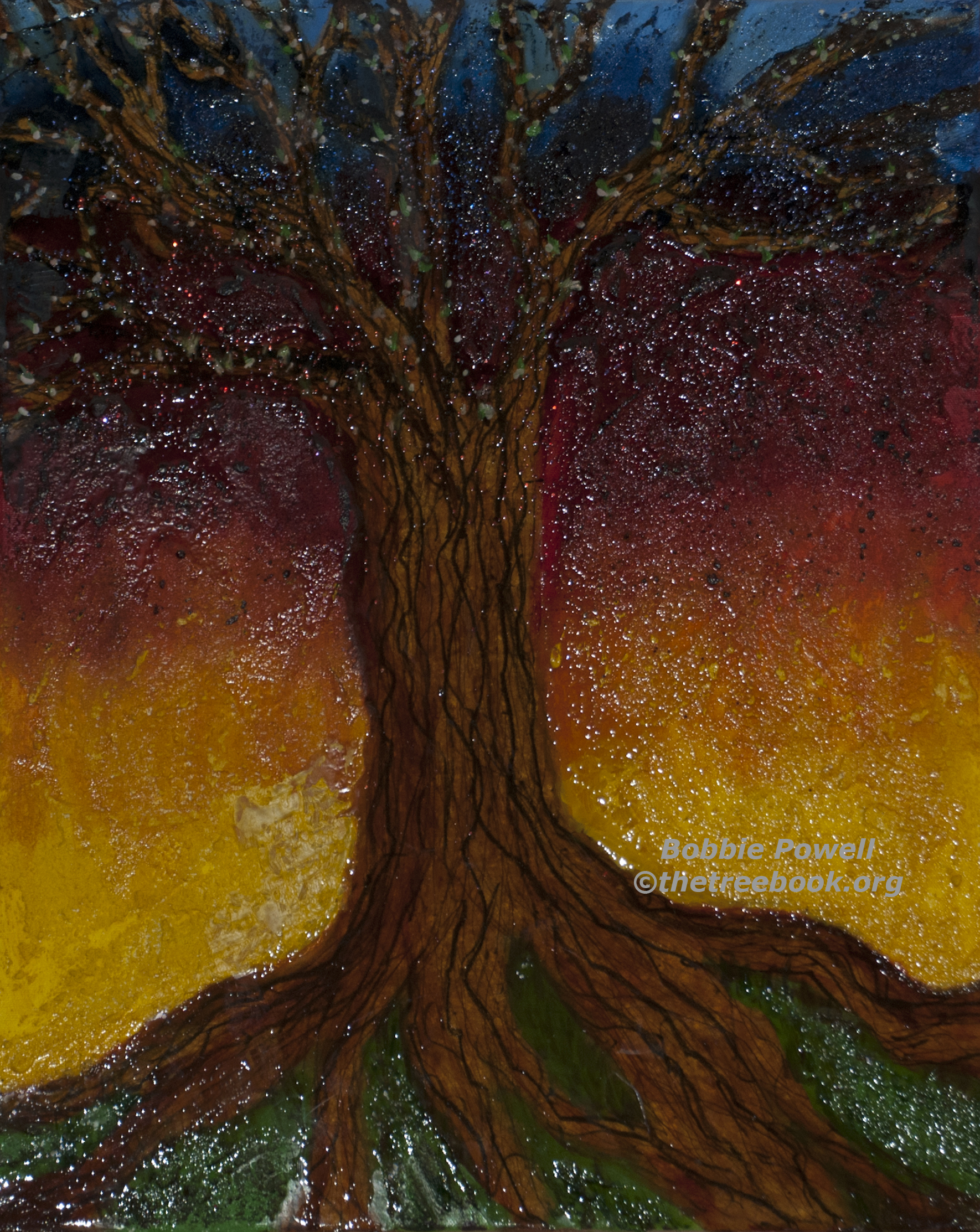 Bobbie Powell, Magic Tree, digital print, 14 x 11in. $75