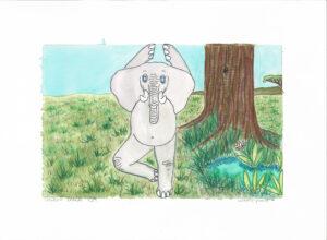 Elephant Ballerina Spiders Dance Illustration by Bobbie Powell