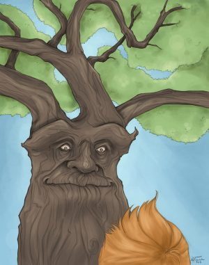 A Tree & His Boy by artist Samantha Nowak The Treebook Project
