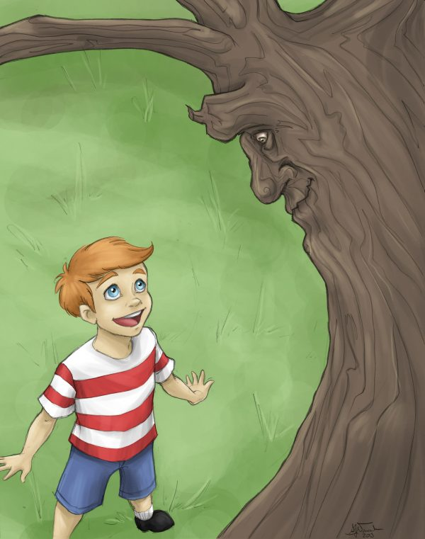 The Boy & His Tree by artist Samantha Nowak The Treebook Project