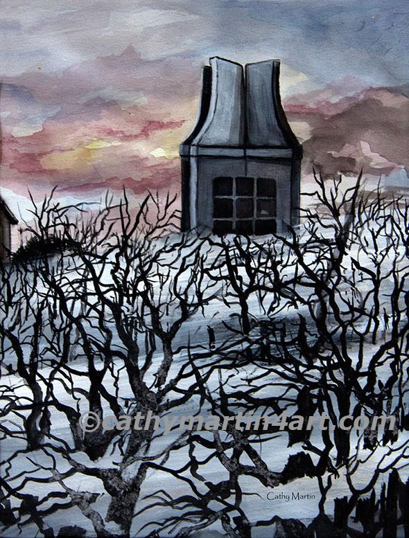 Creepy Campanile by artist Cathy Martin