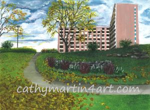 McCullom Hall KU by artist Cathy Martin