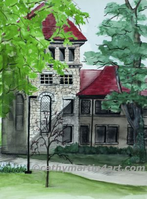 Stauffer Flint Hall at KU by artist Cathy Martin