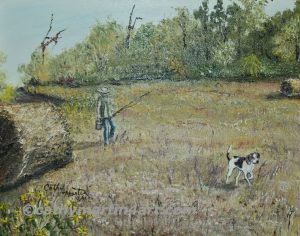 Walking the Dog by artist Cathy Martin
